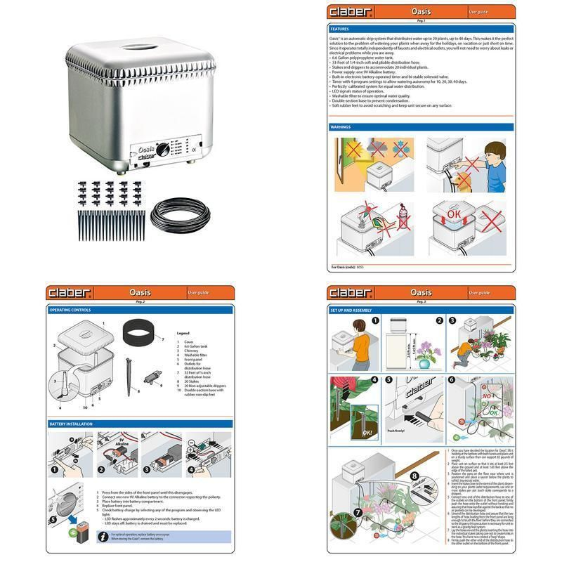 Oasis Water Dripper Device 20 Plant Indoor Garden 640 x 480