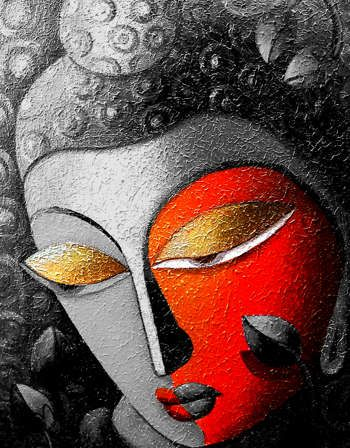 """BUDDHA"" #Creative #Art in #painting @Touchtalent http://bit.ly/Touchtalent-p"