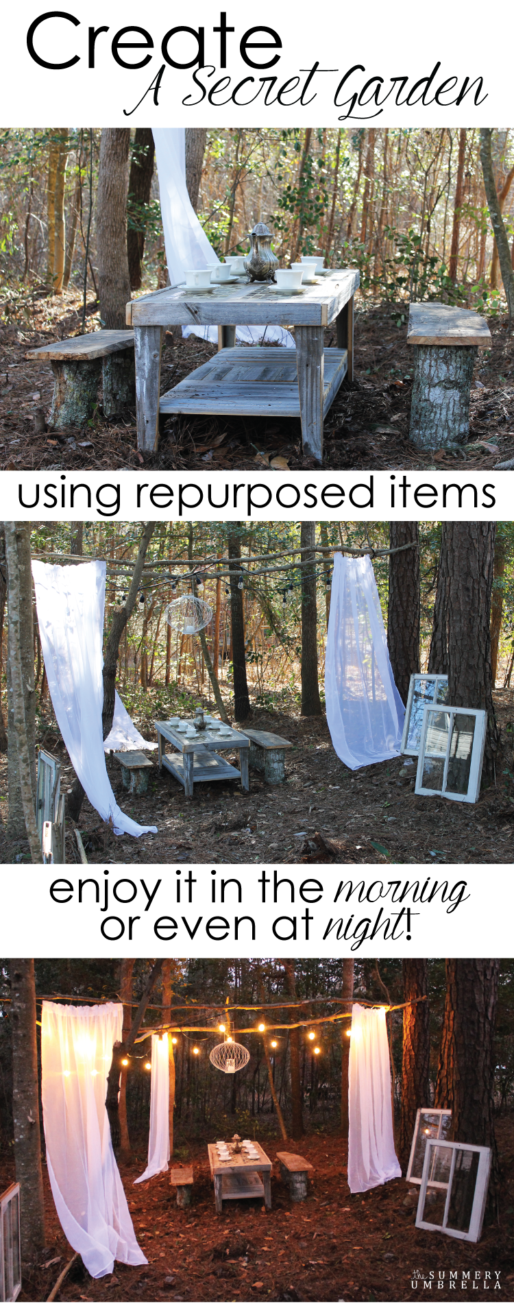 Repurposed Items Create Your Very Own Secret Garden Using Repurposed Items And A
