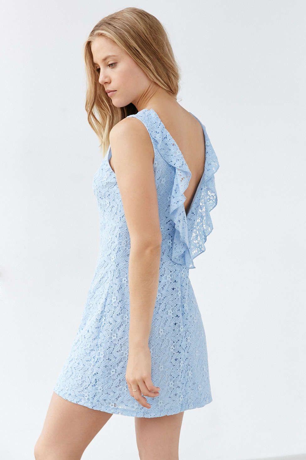 33737074da82 Mini Dresses for Women. Kimchi Blue Plunge-Back Lace Frock Dress