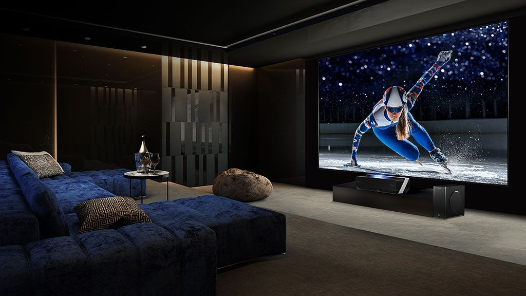 Hisense S Huge 100 Inch 4k Projector Tv Hybrid Is Finally Coming To Australia Projector Tv Short Throw Projector Lcd Television