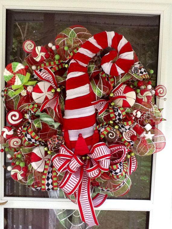 Elf Hat Christmas Deco Mesh Wreath, christmas wreath Pinterest - christmas decorations sale