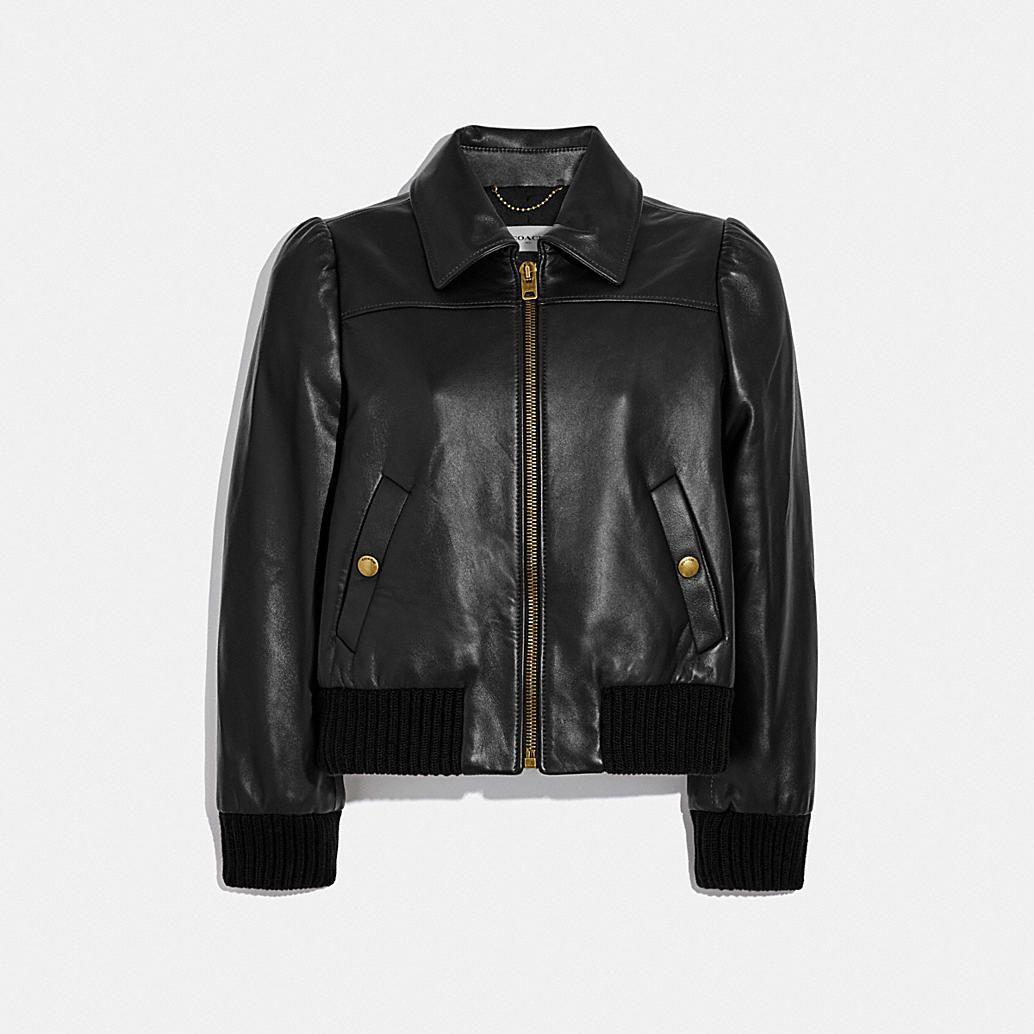 Leather Tailored Bomber Jacket Leather Bomber Jacket Women Bomber Jacket Women Black Leather Bomber Jacket [ 1034 x 1034 Pixel ]