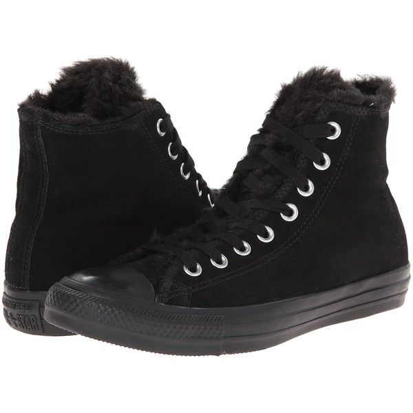 e54fb188e9b4 Converse Chuck Taylor All Star Suede Fur Hi Women s Lace up casual... ( 45)  ❤ liked on Polyvore featuring shoes