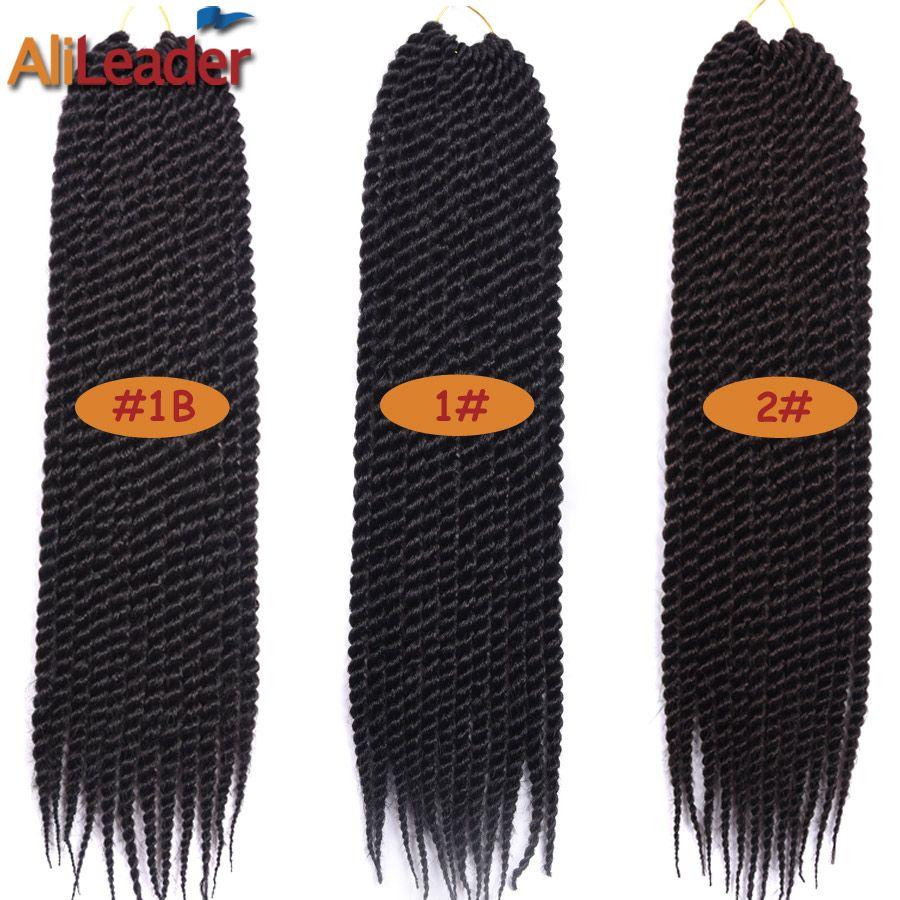 Alileader senegalese twist hair crochet braids kanekalon synthetic
