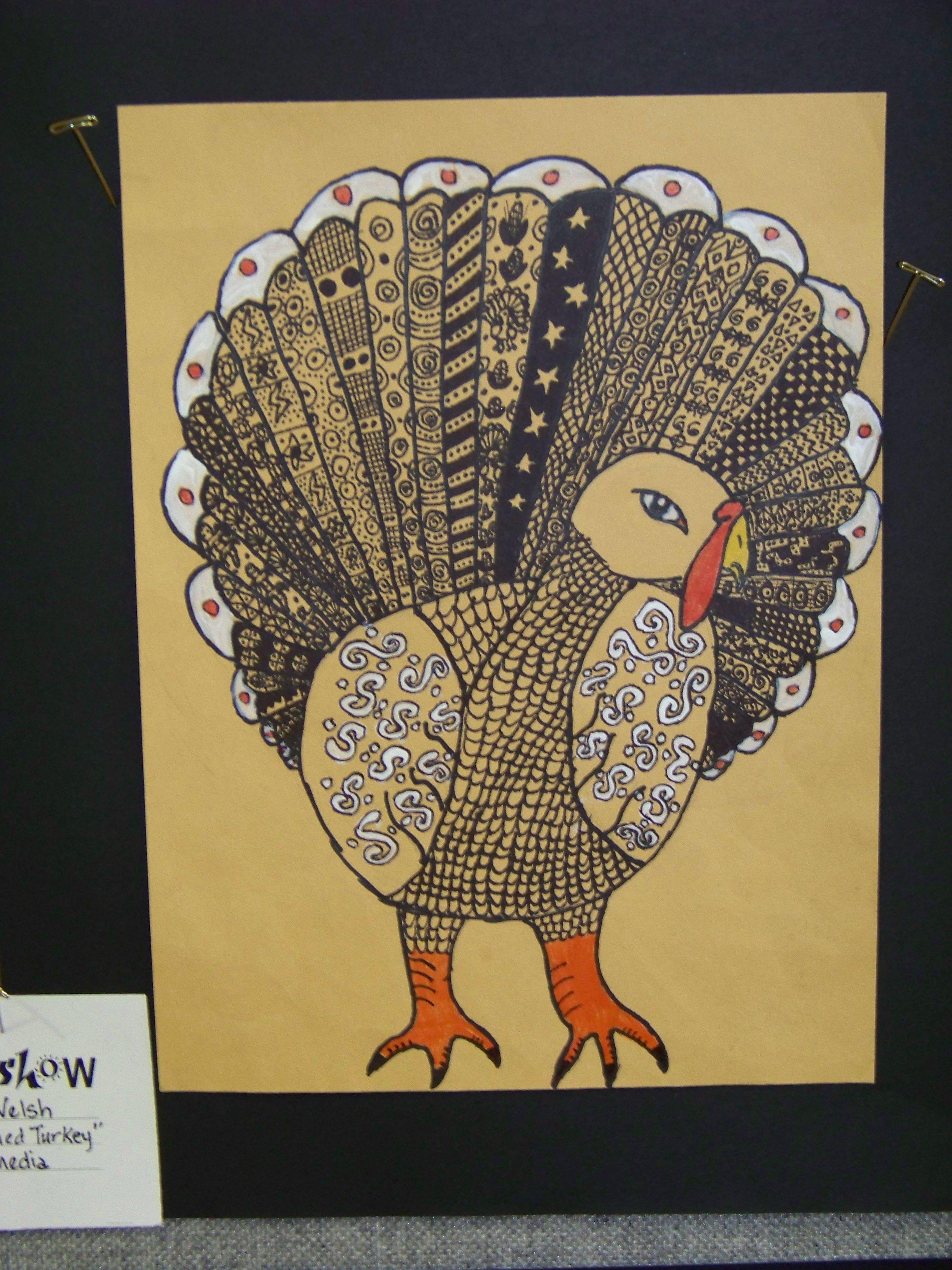 Zentangle Turkey Art Ed Thanksgiving Themed Elementary