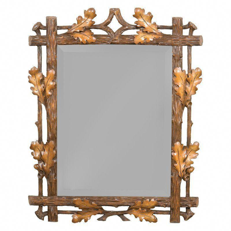 Oklahoma Casting Medium Oak Leaf Wall Mirror Interiordesign