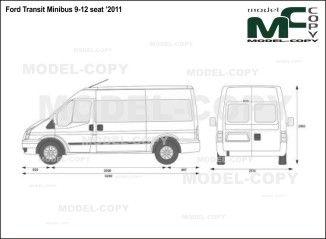 Ford Transit Minibus 9 12 Seat 2011 Blueprints Ai Cdr Cdw Dwg Dxf Eps Gif Jpg Pdf Pct Psd Svg Tif Bmp Ford Transit Ford Blueprints