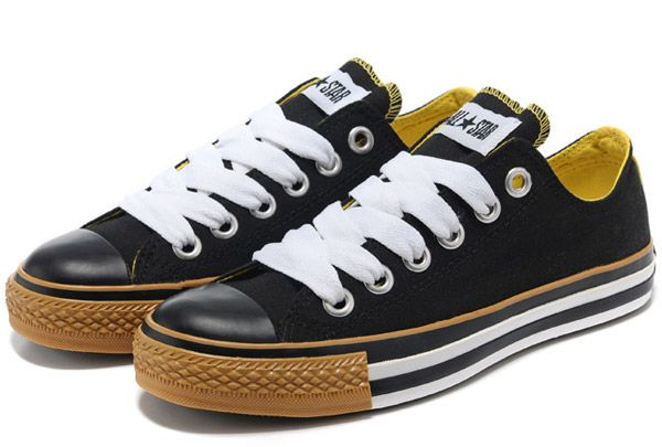 c6b2fd470192f8 Fashion Indonesia Big Lace Hole Converse Black Yellow Chuck Taylor All Star  Low Canvas Mens Sneakers  XC14021903  -  59.00   Get Style British Flag  Converse ...