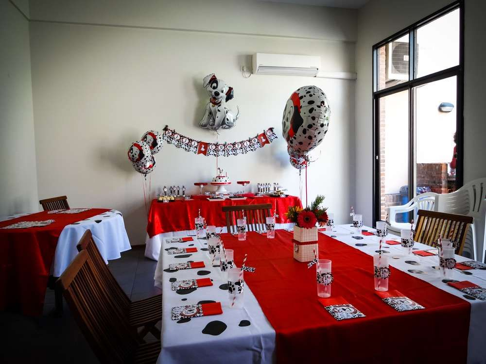 101 Dalmatians Birthday Party Ideas Photo 1 Of 23 101 Dalmations Party Dalmatian Party Dalmation Party