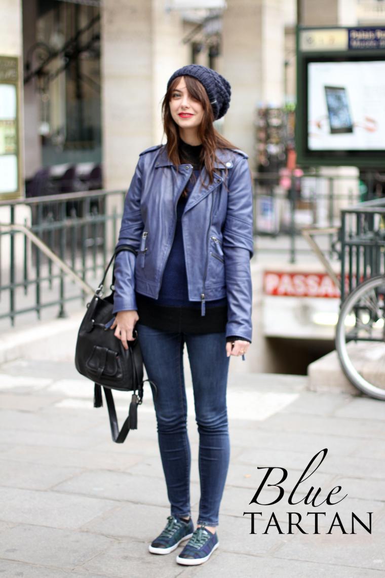 Black & navy blue