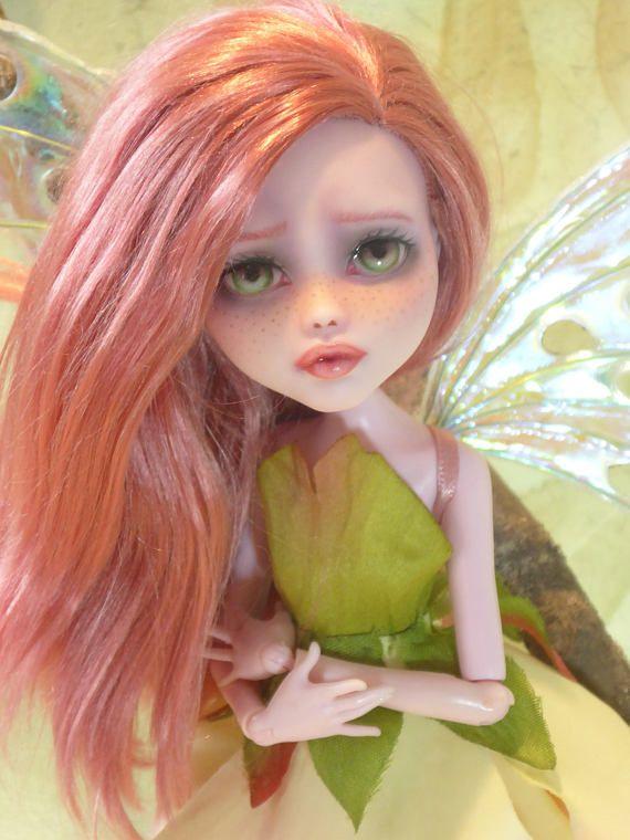 ooak custom repaint monster high doll draculaura monadh ruadh fairy rh za pinterest com