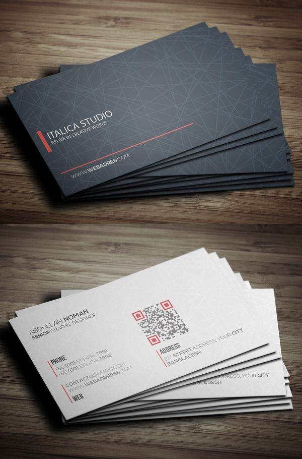 Modern Business Card Template Businesscards Psdtemplates Visitingcard