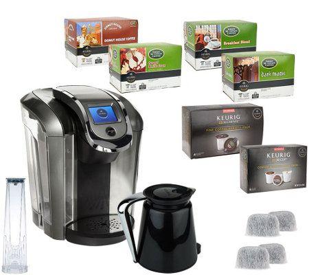 Keurig 2 0 K550 Coffee Maker w 54 K Cup Packs 4 K Carafe Packs