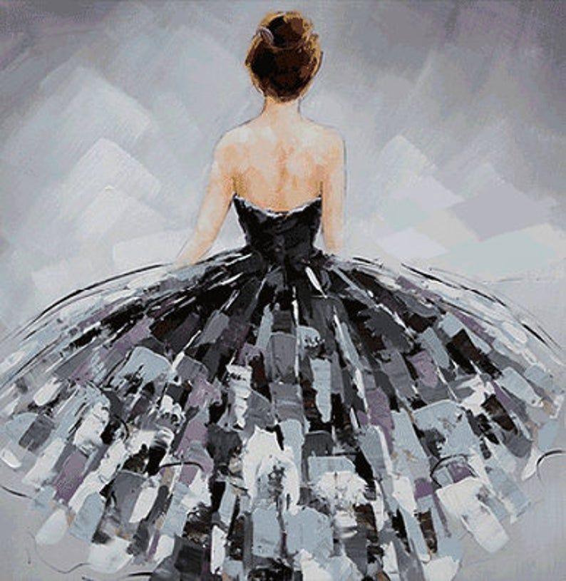 Ballerina fine art Dancer oil painting on Canvas B