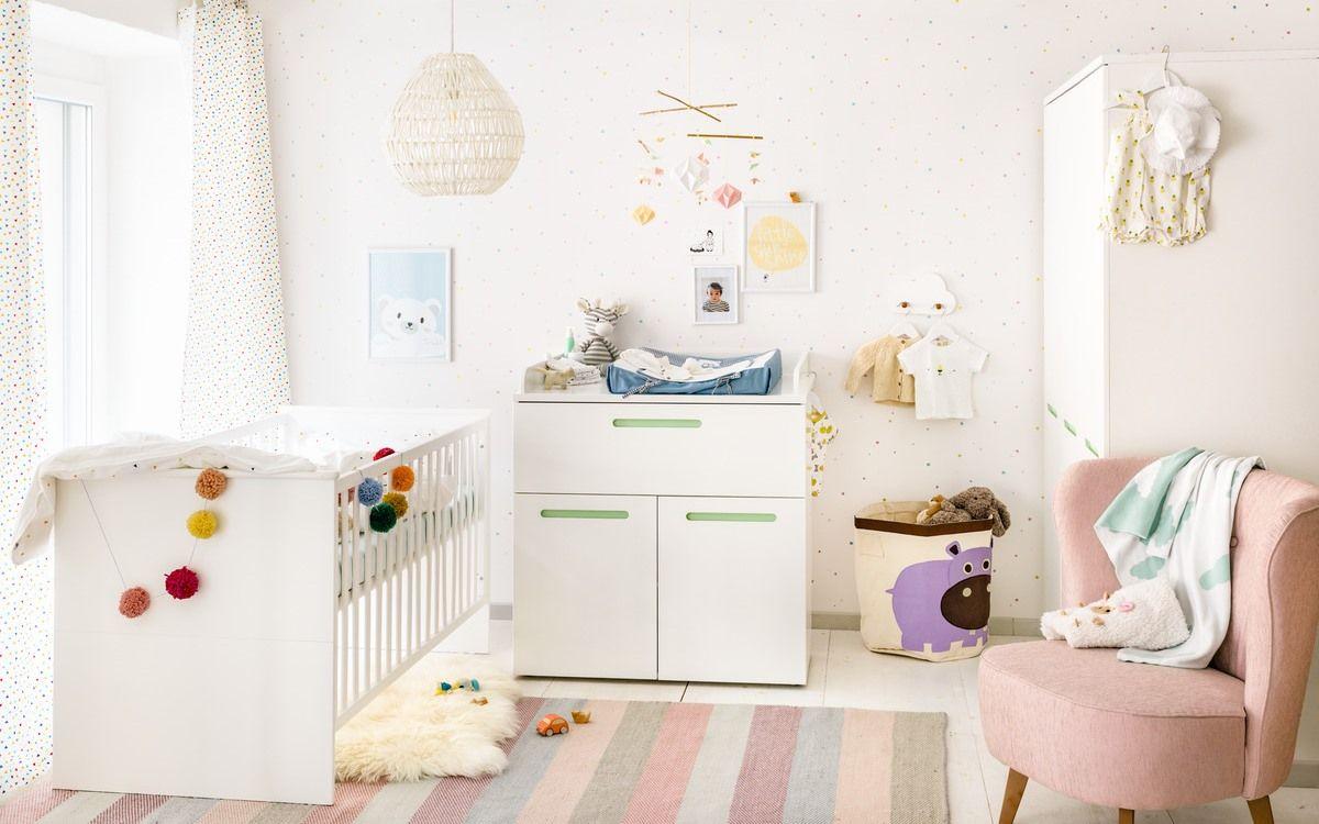 Micasa Kinderzimmer mit Babybett & Wickelkommode aus dem