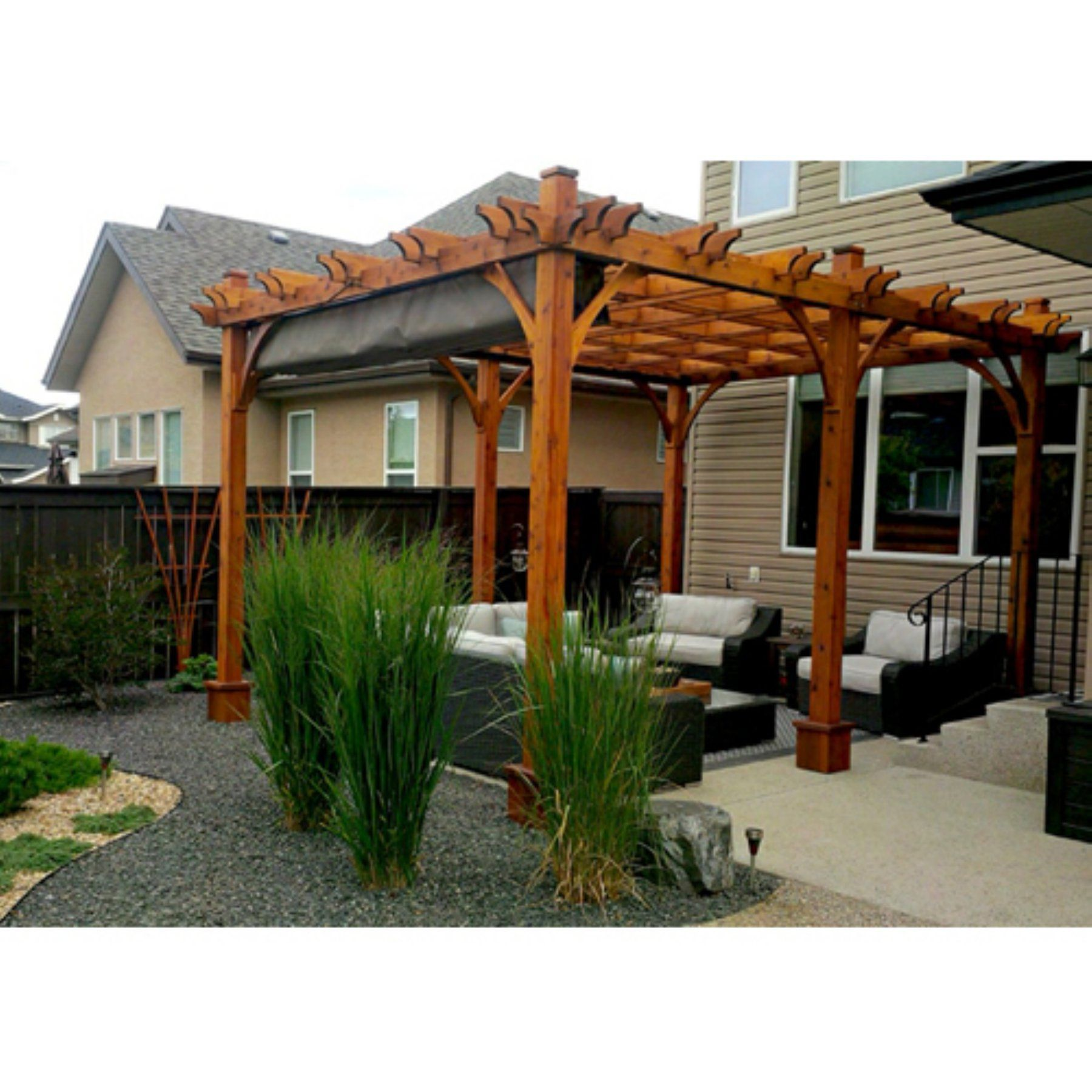 Outdoor Living Today Breeze 12 X 16 Ft Pergola With Retractable Canopy Outdoor Pergola Pergola Patio Canopy Outdoor