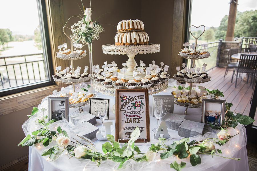 Describe your wedding cake and the flavor we actually did