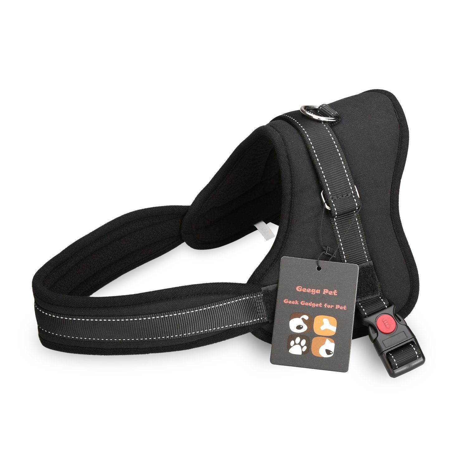 Dog Harness,Geega Pet Dog Body Harness Padded Extra Chest