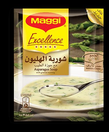شوربة الهليون من ماجي إكسيلانس الهليون هو نوع فريد من الخضار غني بالألياف وبالنكهة الفريدة أيضا تحتوي شوربة الهليون من ماجي Asparagus Soup Asparagus Maggi