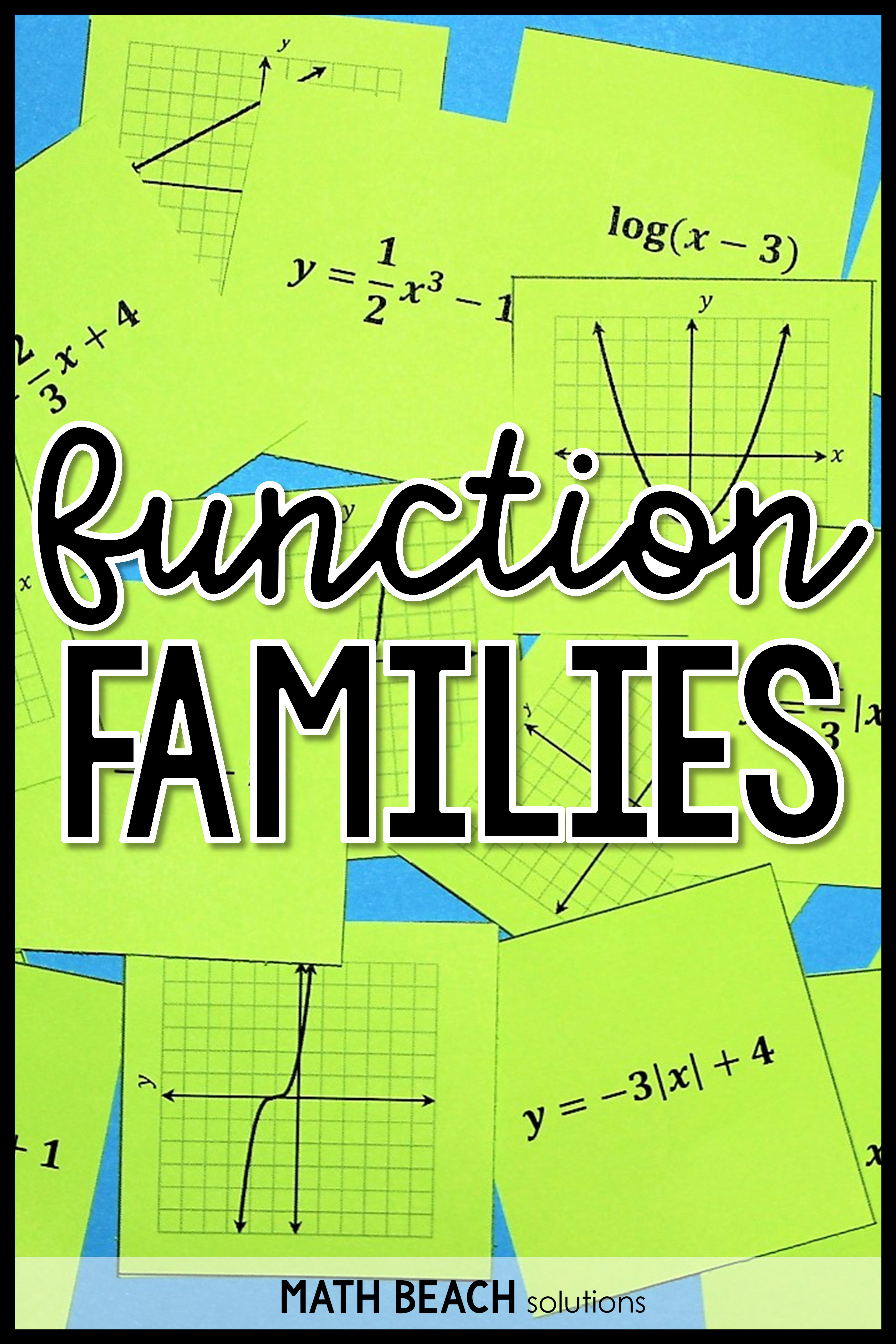 Are You Looking For A Fresh Idea For Practicing Identifying Function Families By Examining Graphs And Graphing Functions Algebra Activities Algebra Worksheets