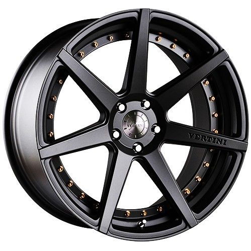 The multi-spoke design is a common favourite with many who don't want a wheel that has a lot going on. This beauty is very easy on the eyes and will only compliment the vehicle without dominating the whole look and appeal of the car.  http://ttf.com.au/buy/wheels-tyres-car-service/205811/vertini-dynasty-20x8-5-5x100-satin-black-with-gold-interchangable-rivets-limited-edition