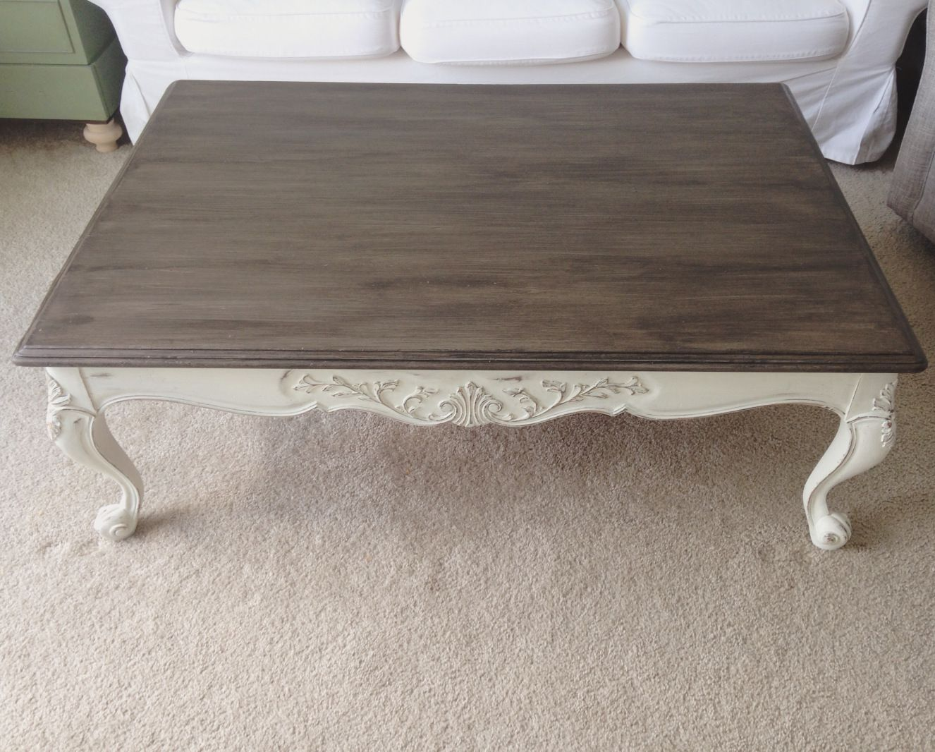 A Refreshed Coffee Table Top And All About Layering Gel Stain And Chalk Paint Coffee Table Wood Coffee Table Coffee Table Refinish