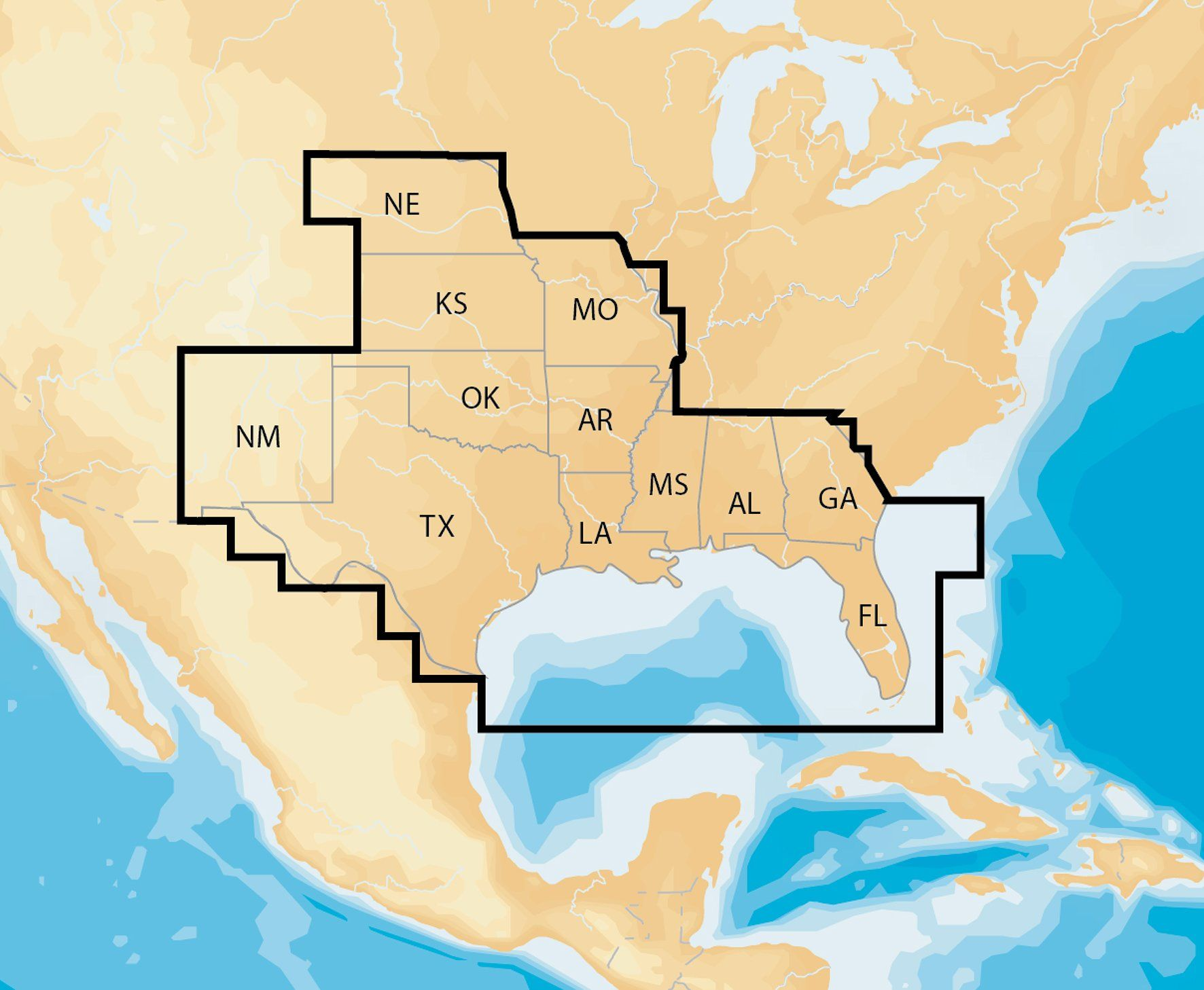 Navionics Plus Regions South Marine And Lake Charts On SDMSD - Lake mapping software