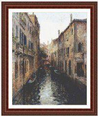 Вышивка Каналы Венеции