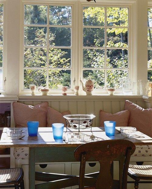 A Cozy Kitchen Nook Featuring Pella Architect Series Casement Windows Photo Courtesy Of Pella Windo Casement Windows Windows And Patio Doors Sunroom Windows