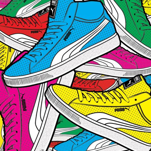 Puma Pile Matt Richards Illustration | Illustration, Shoe