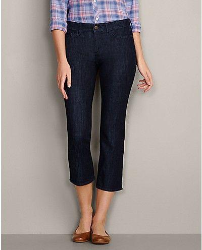Curvy Cropped Jeans at Eddie Bauer