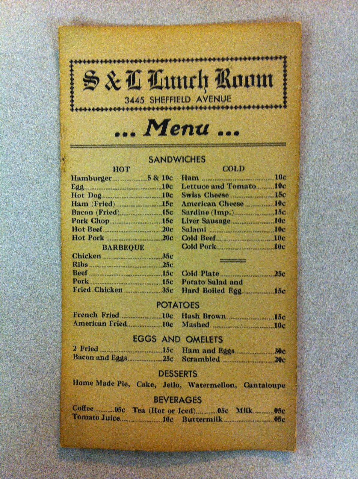 Early 1900s s l lunch room restaurant by wrigley field