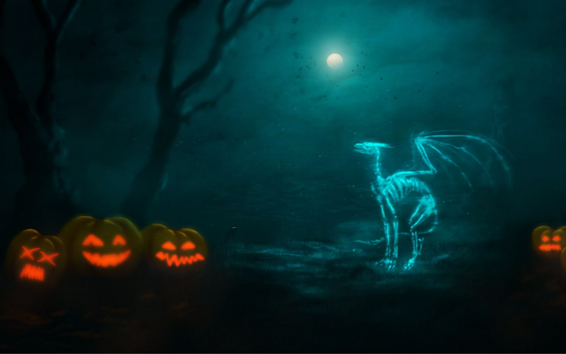 Ghost dragon Ghost images, Halloween wallpaper, Scary