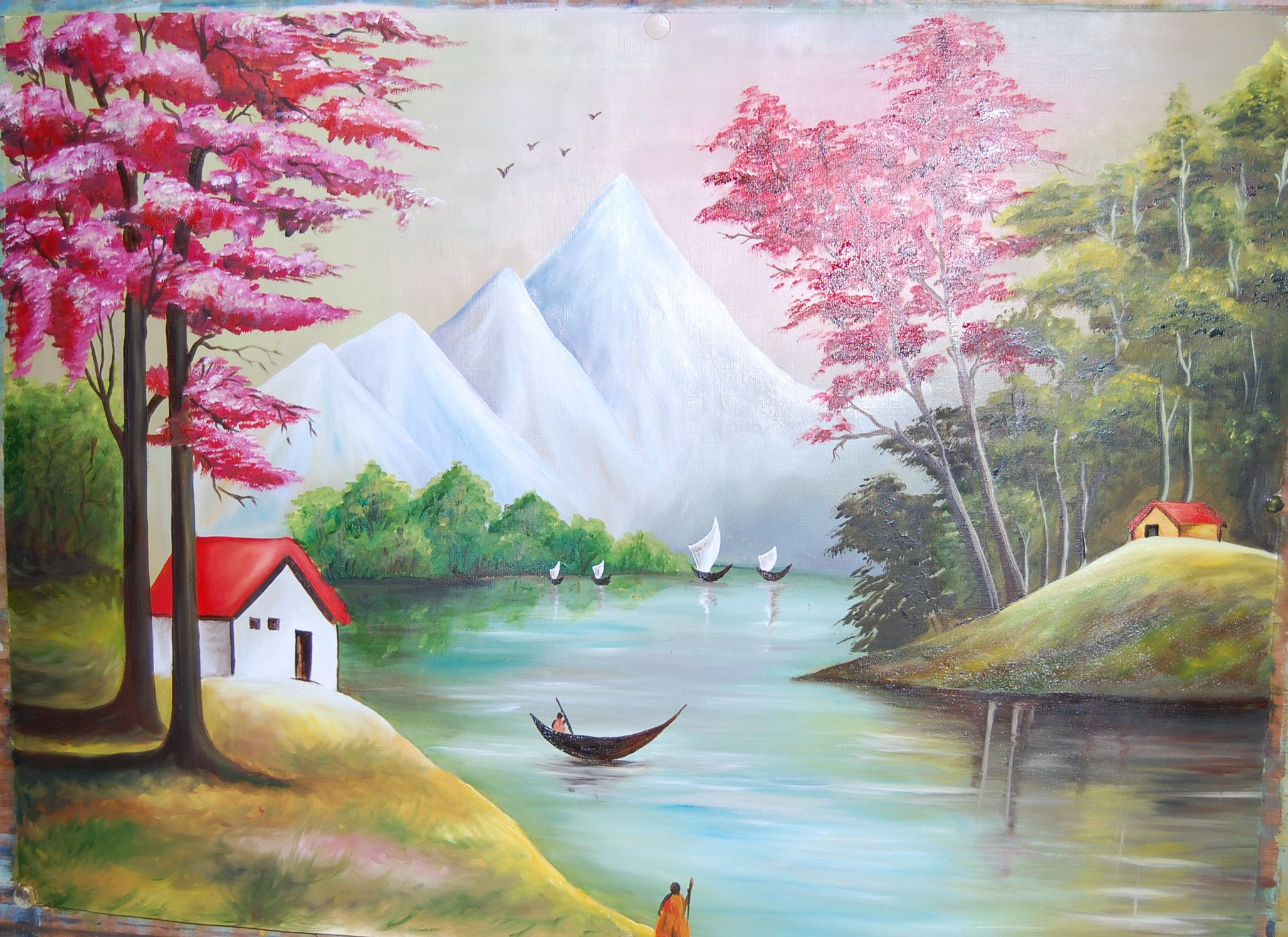 Scenery oil painting 17730327 dd34b6f1 489d 4dc2 a42b for Oil painting scenery