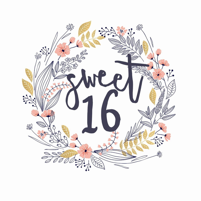 Sweet 16 Birthday Cards Printable Luxury Gift Of You Free Birthday Card Birthday Card Printable 16th Birthday Card Birthday Card Template