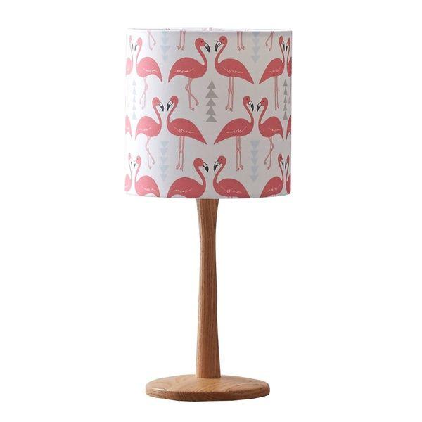 Flamingo Flourish Lampshade White Small Table Lamp Rosa