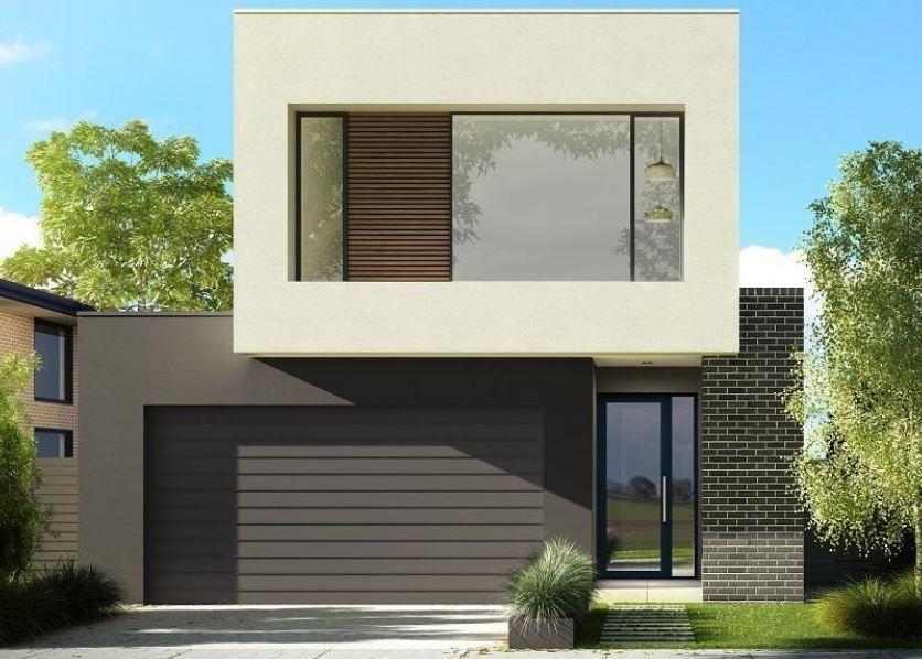 Fachadas de casas pintadas en color gris DISEÑO EXTERIOR