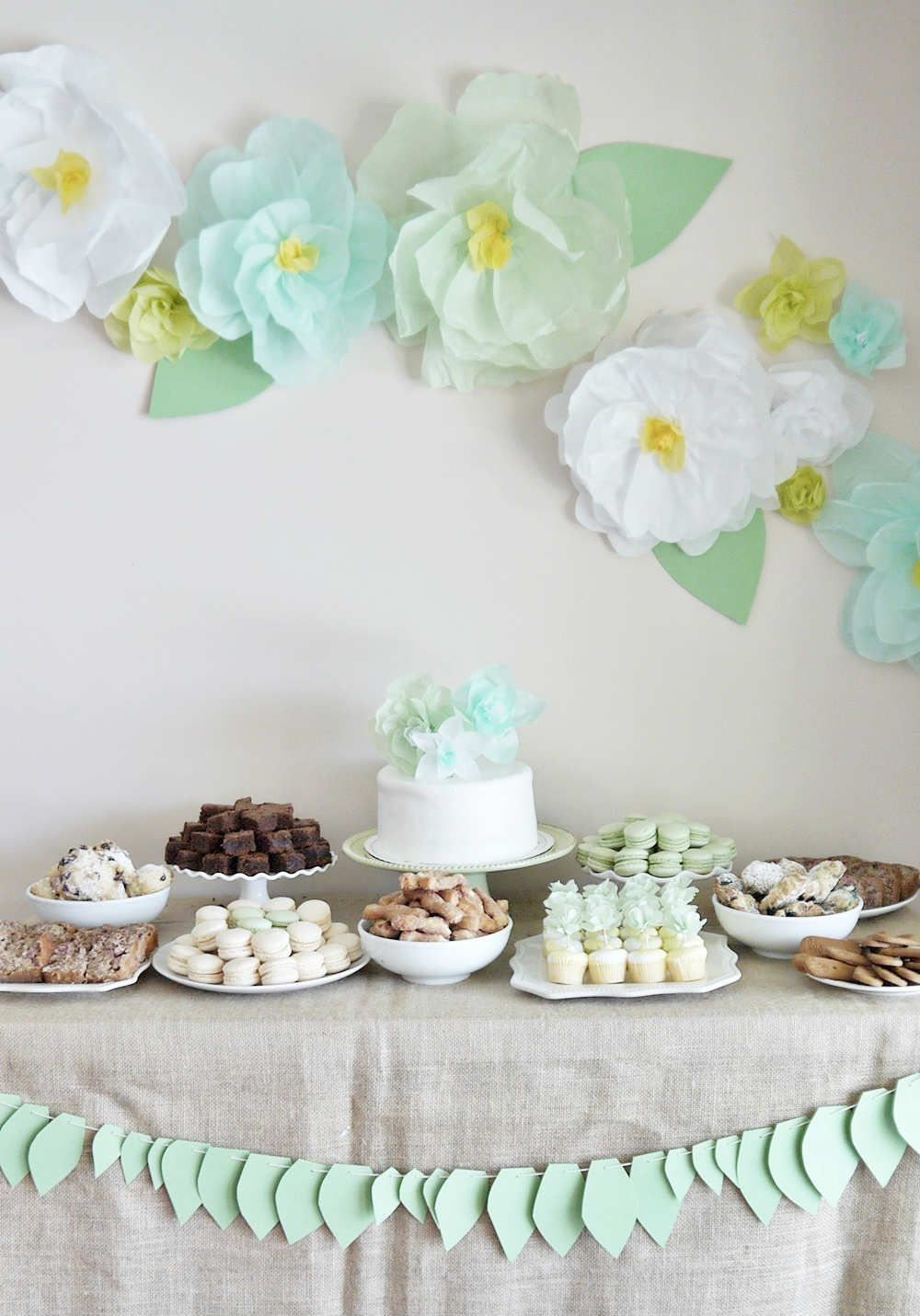 Garden baby shower decor - Garden Tea Party In Mint 10 Delightful Dessert Table Ideas Tinyme Blog