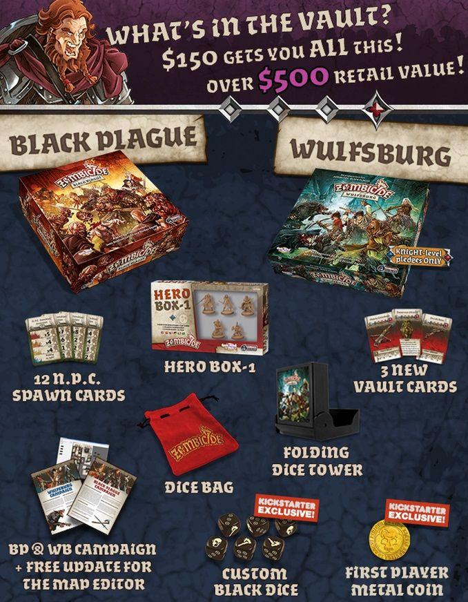 Zombicide Black Plague boardgame Zombicide black plague