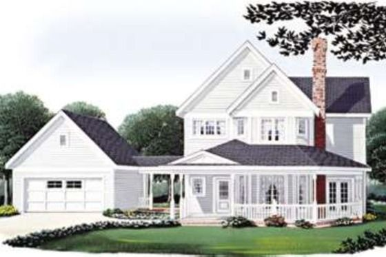 Country Style House Plan 3 Beds 2 5 Baths 1832 Sq Ft Plan 410 118 House My Dream Home Home