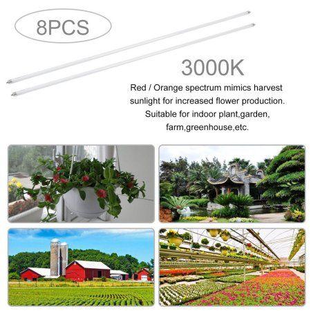 Led Grow Lights T5 Plant Growing Bulbs 8 Pcs 3000k T5 Plant