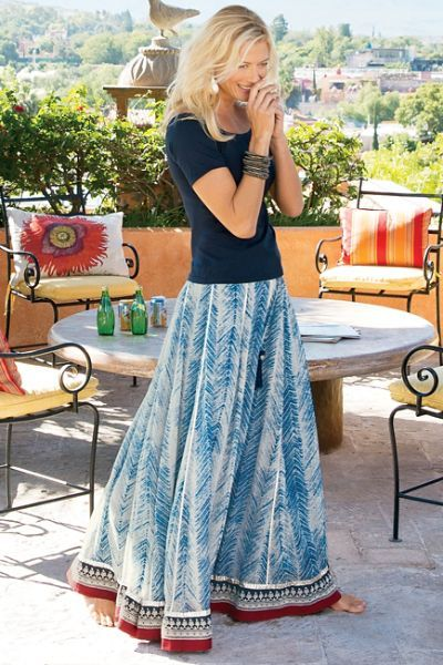 1a85967dd5 Zagara Skirt in 2019 | Flowing Skirts | Fashion, Boho fashion, Boho ...