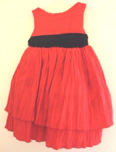 a45bdf9d5cc5 Toddler-Girls-Red-Party-Holiday-Dress-24-Months-Black-Bow-Christmas-church