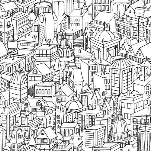 Huisjes kleurplaten huizen en steden pinterest for Huizen tekenen