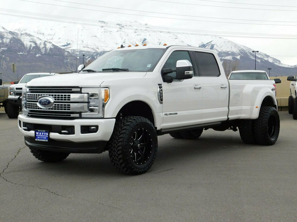 For Sale 2019 Ford Super Duty F 350 Platinum Ford Crew Cab Platinum Dually 4x4 Powerstroke Diesel Custom Lift Wheels Tires Ford Super Duty 2019 Ford Ford Suv