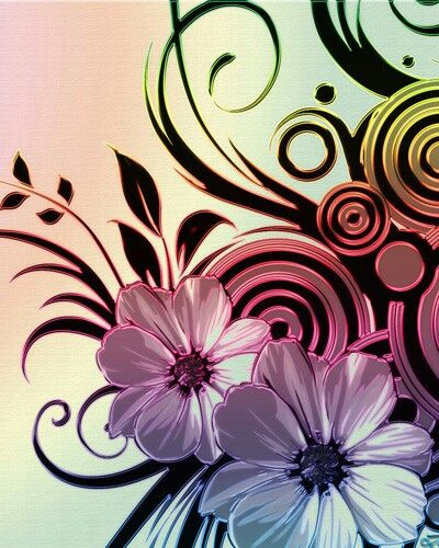 FLORAL TABLET WALLPAPER