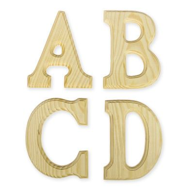 art minds wood letters 4 in x 6 in