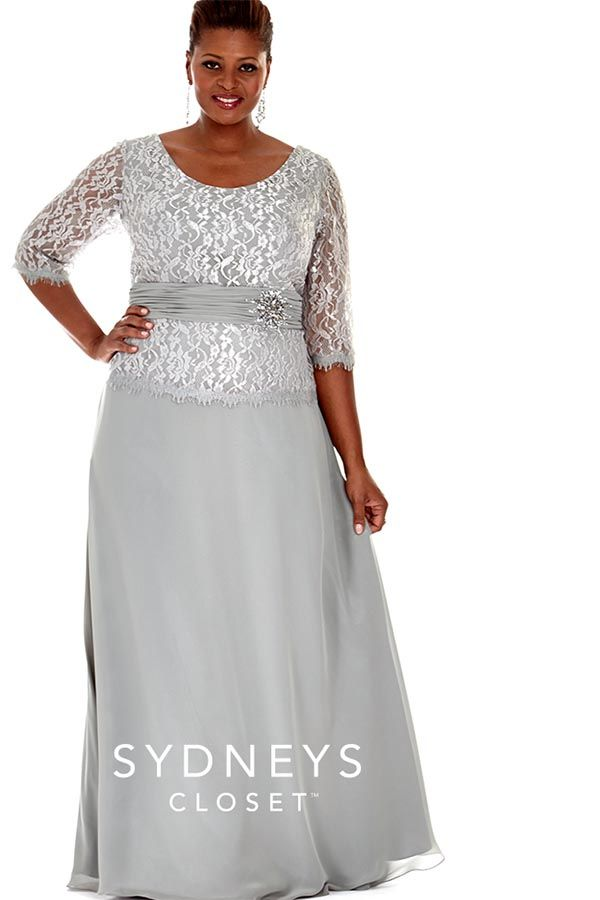 Plus size wedding or evening gown. The bottom\'s light gray and the ...