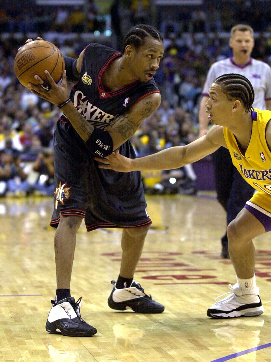 Allen Iverson in the Reebok Answer IV (2001)  8bb9986f7